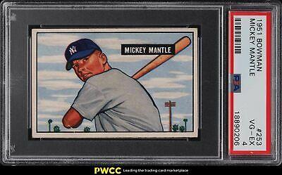1951 Bowman Mickey Mantle ROOKIE RC 253 PSA 4 VGEX