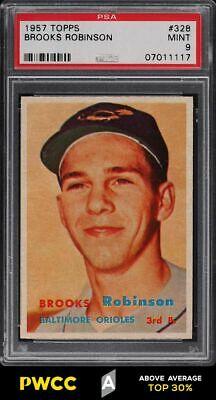 1957 Topps Brooks Robinson ROOKIE RC 328 PSA 9 MINT PWCCA