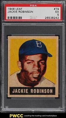 1948 Leaf Jackie Robinson ROOKIE RC 79 PSA 5 EX