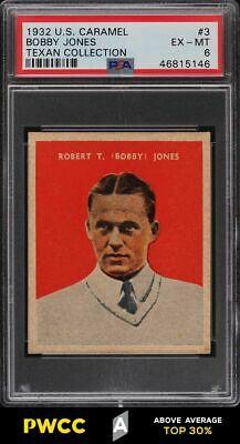 1932 US Caramel SETBREAK Bobby Jones 3 PSA 6 EXMT PWCCA