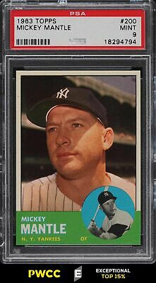 1963 Topps Mickey Mantle 200 PSA 9 MINT PWCCE