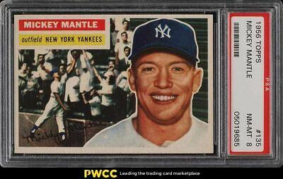 1956 Topps Mickey Mantle 135 PSA 8 NMMT