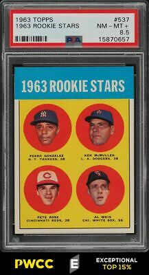 1963 Topps Pete Rose ROOKIE RC 537 PSA 85 NMMT PWCCE
