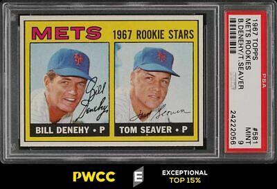 1967 Topps Tom Seaver ROOKIE RC 581 PSA 9 MINT PWCCE
