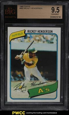 1980 Topps Rickey Henderson ROOKIE RC 482 BVG 95 GEM MINT