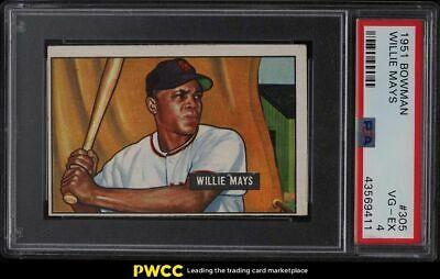 1951 Bowman Willie Mays ROOKIE RC 305 PSA 4 VGEX