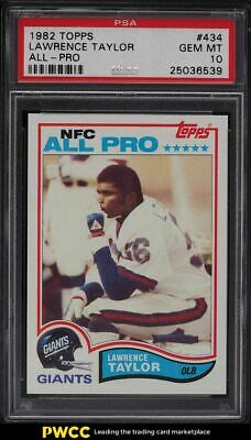1982 Topps Football Lawrence Taylor ROOKIE RC ALLPRO 434 PSA 10 GEM MINT