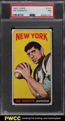 1965 Topps Football Joe Namath SP ROOKIE RC 122 PSA 7 NRMT