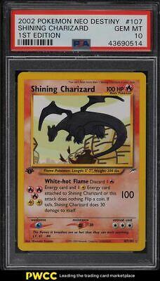 2002 Pokemon Neo Destiny 1st Edition Shining Charizard 107 PSA 10 GEM MINT