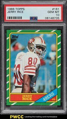1986 Topps Football Jerry Rice ROOKIE RC 161 PSA 10 GEM MINT