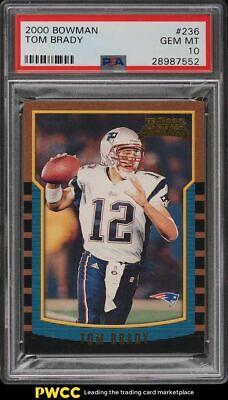 2000 Bowman Football Tom Brady ROOKIE RC 236 PSA 10 GEM MINT