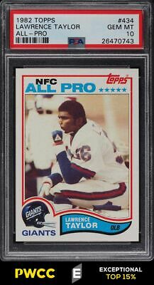 1982 Topps Football Lawrence Taylor ROOKIE ALLPRO 434 PSA 10 GEM MINT PWCCE
