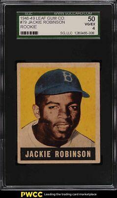 1948 Leaf Jackie Robinson ROOKIE RC 79 SGC 4 VGEX
