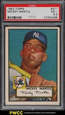 1952 Topps Mickey Mantle 311 PSA 55 EX