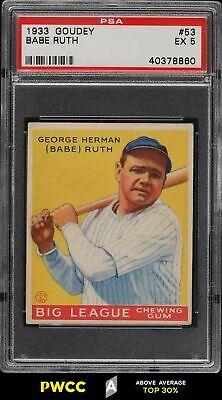 1933 Goudey Babe Ruth 53 PSA 5 EX PWCCA