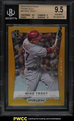 2012 Panini Prizm Gold Prizms Mike Trout ROOKIE RC 10 BGS 95 GEM MINT