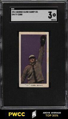 1911 E94 George Close Candy Purple Ty Cobb SGC 3 VG PWCCA