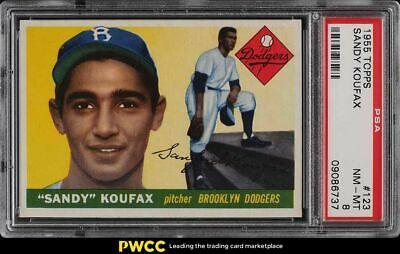 1955 Topps Sandy Koufax ROOKIE RC 123 PSA 8 NMMT