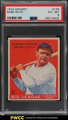 1933 Goudey Babe Ruth 149 PSA 6 EXMT