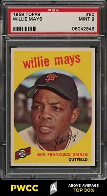 1959 Topps Willie Mays 50 PSA 9 MINT PWCCA