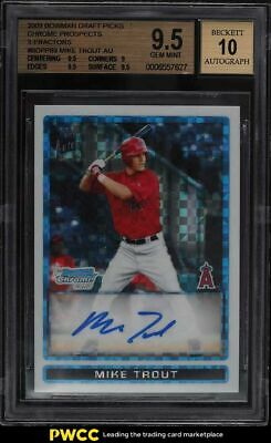 2009 Bowman Chrome Xfractor Mike Trout ROOKIE RC AUTO 225 BGS 95 GEM MINT