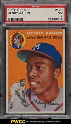 1954 Topps Hank Aaron ROOKIE RC 128 PSA 7 NRMT