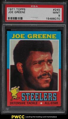 1971 Topps Football Joe Greene ROOKIE RC 245 PSA 9 MINT