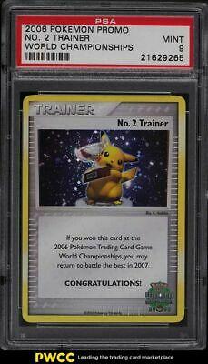 2006 Pokemon World Championships Promo No 2 Trainer PSA 9 MINT