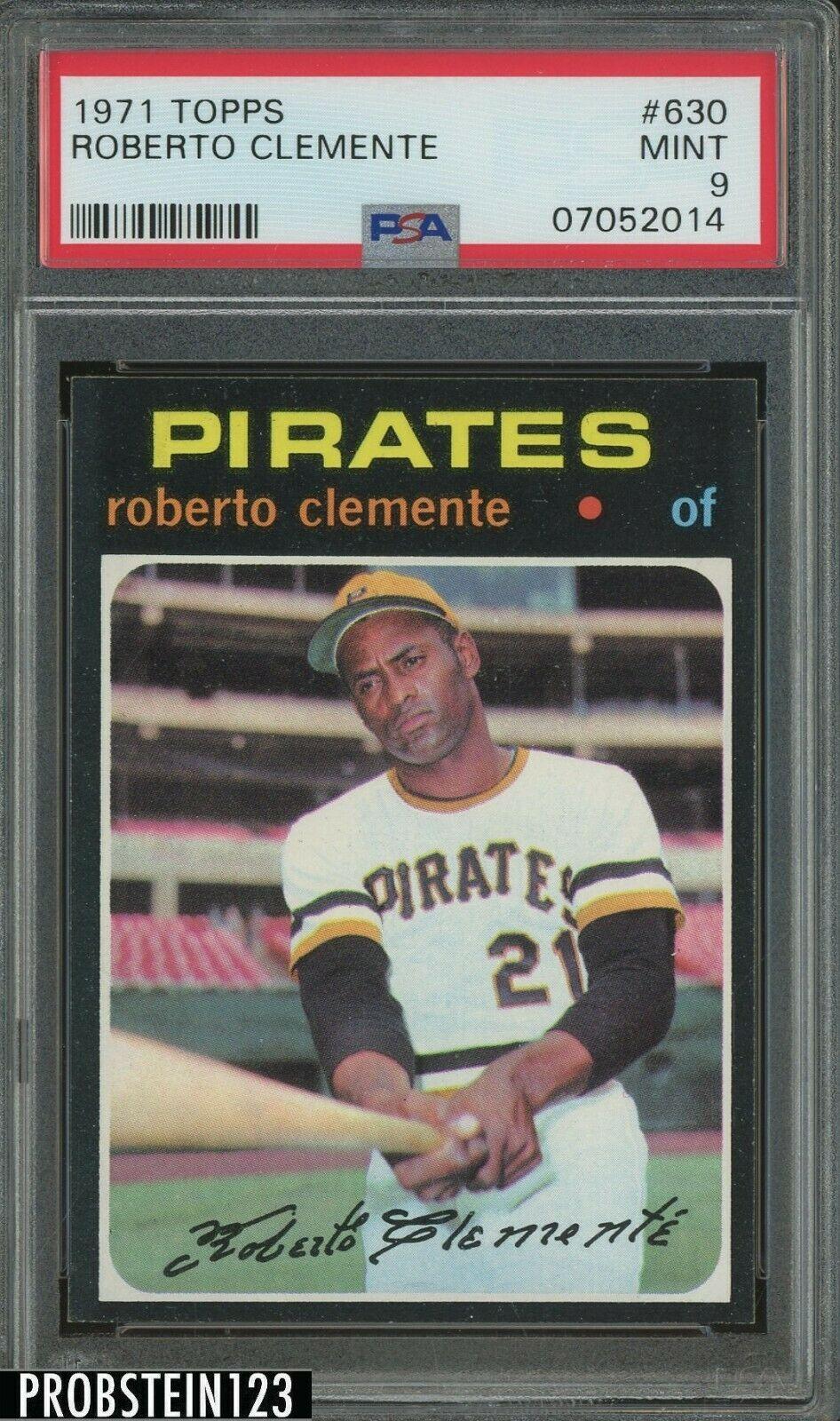 1971 Topps SETBREAK 630 Bob Roberto Clemente Pirates HOF PSA 9 MINT SUPER RARE