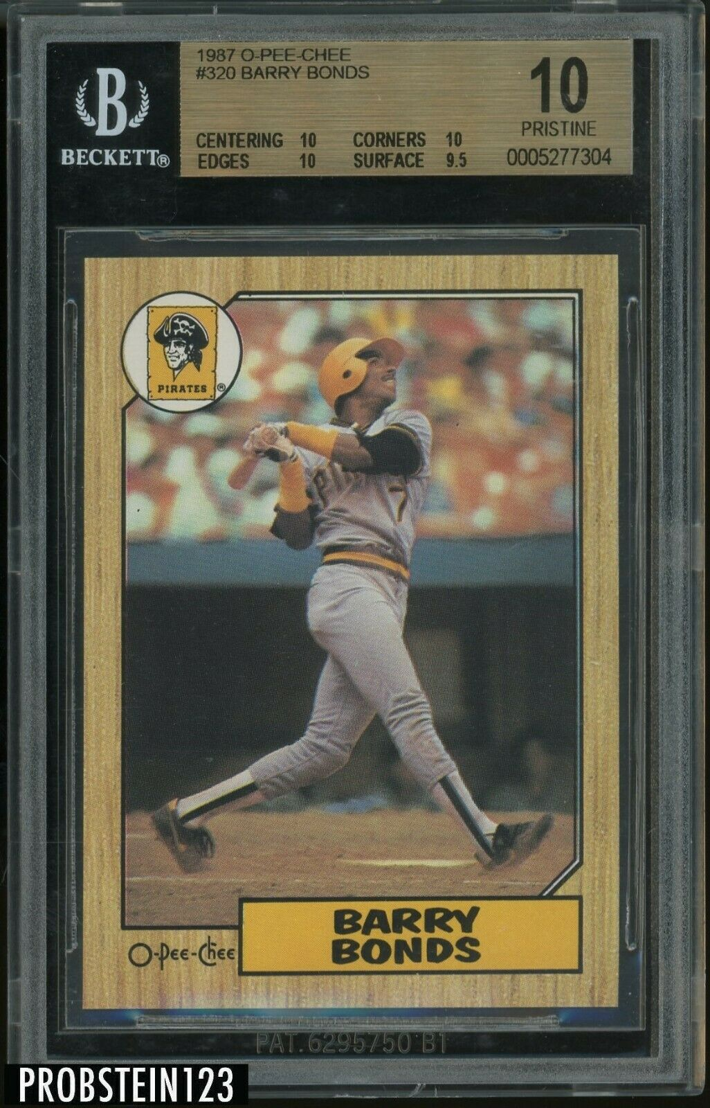 1987 OPeeChee OPC 320 Barry Bonds Pirates RC Rookie BGS 10  SUPER LOW POP