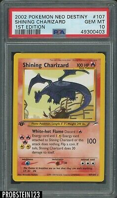 2002 Pokemon Neo Destiny 1st Edition 107 Shining Charizard PSA 10 GEM MINT