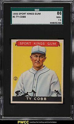 1933 Goudey Sport Kings Ty Cobb 1 SGC 75 NRMT