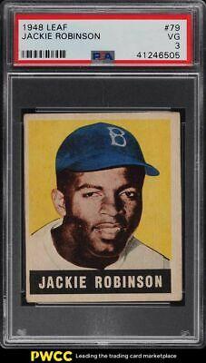 1948 Leaf Jackie Robinson ROOKIE RC 79 PSA 3 VG