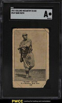 1917 E135 CollinsMcCarthy Babe Ruth 147 SGC Auth