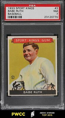 1933 Goudey Sport Kings Babe Ruth 2 PSA 7 NRMT PWCCA