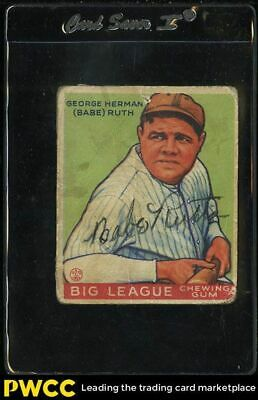 1933 Goudey Babe Ruth SIGNED AUTOGRAPHED AUTO 181 JSA AUTH LOA