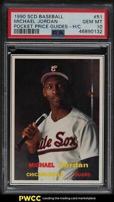 1990 SCD Baseball Pocket Price Guides Michael Jordan ROOKIE RC 51 PSA 10 GEM MT