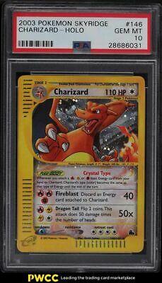 2003 Pokemon Skyridge Holo Crystal Charizard 146 PSA 10 GEM MINT
