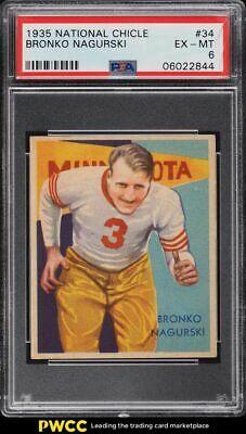 1935 National Chicle Football Bronko Nagurski 34 PSA 6 EXMT