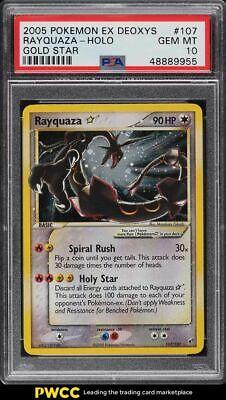 2005 Pokemon EX Deoxys Holo Rayquaza Gold Star 107 PSA 10 GEM MINT